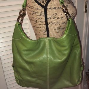 Dooney and Bourke Apple Green Leather Hobo Bag